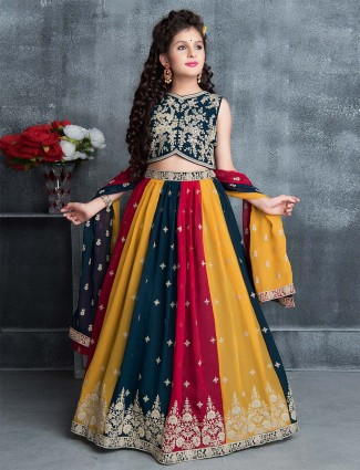 Attractive navy blue lehenga choli for wedding