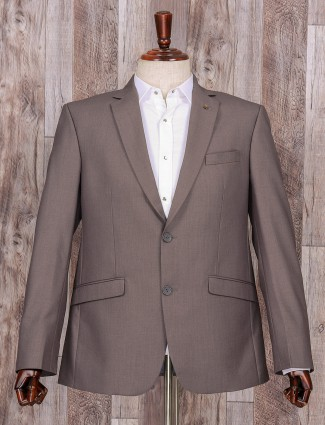 Attractive plain grey coat suit