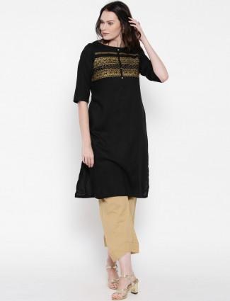 Aurelia black cotton kurti