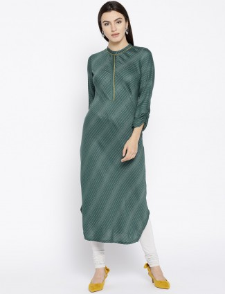 Aurelia green hue kurti in cotton