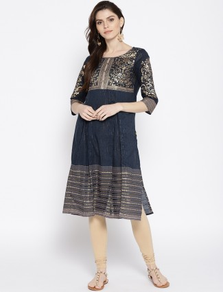 Aurelia grey hue kurti in cotton