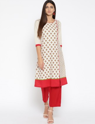 Aurelia Off white cotton fabric kurti