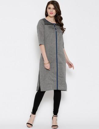 Aurelia printed grey casual wear cotton Kurti