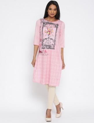 Aurelia printed pink cotton kurti