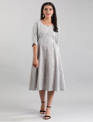 Aurelia stripe grey cotton kurti