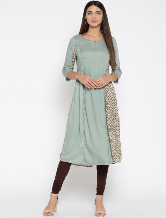 Aurelia Teal green casual kurti for women