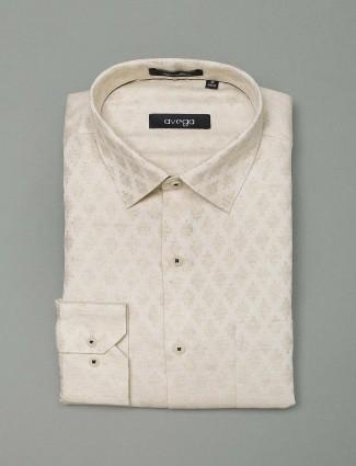 Avega cream hue zitter cotton shirt