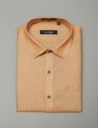 Avega full sleeves yellow color printed shirt