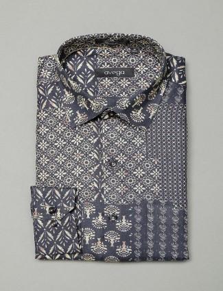 Avega presented dark grey printed shirt