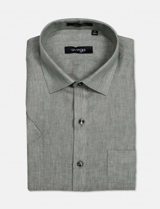 Avega solid cotton linen pista shirt