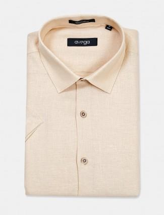 Avega solid line beige shirt