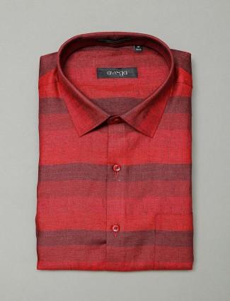 Avega stripe red formal wear shirt