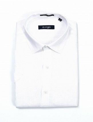 Avega white linen formal wear shirt
