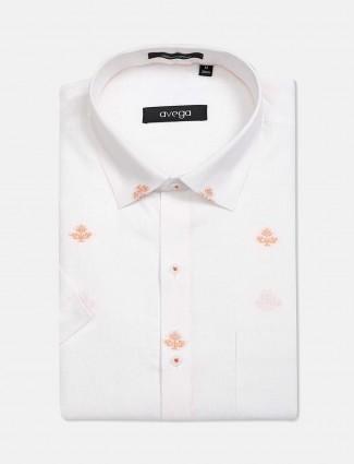 Avega white thread weaving shirt