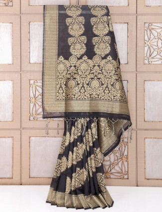 Awesome Black color party saree