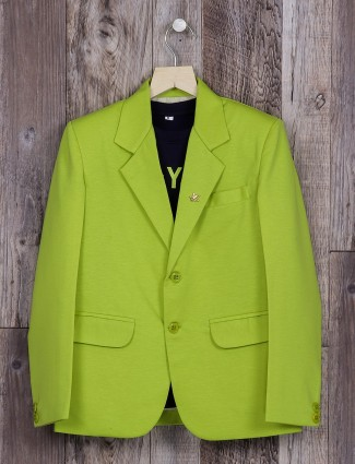 Awesome plain green terry rayon blazer