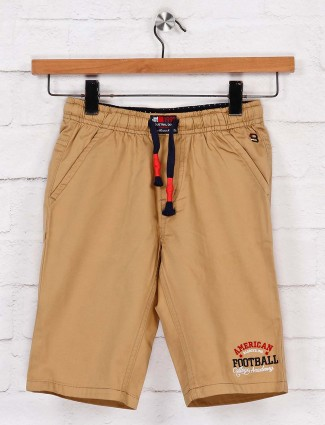 Bad Boys beige cotton short