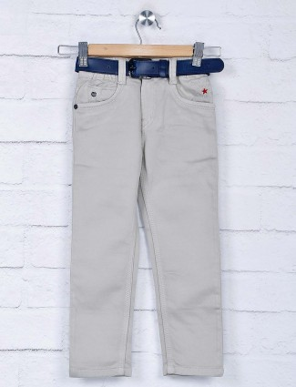 Bad Boys beige hue solid casual wear jeans