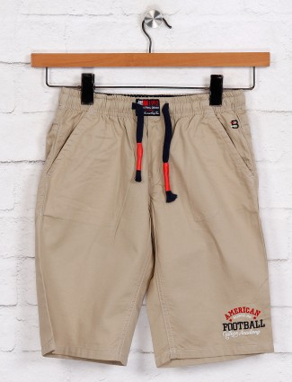 Bad Boys beige solid casual wear short