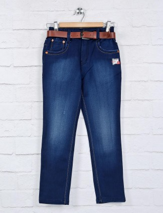 Bad Boys blue solid jeans for boys