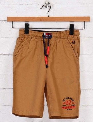 Bad Boys cotton olive solid short