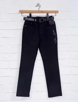 Bad Boys denim solid black jeans