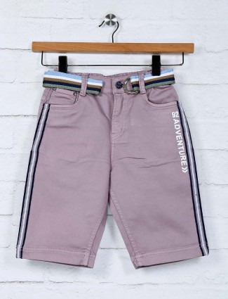 Bad Boys slim fit violet solid short