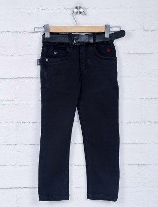 Bad Boys solid black simple jeans