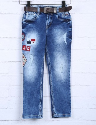 Badboys blue washed casual jeans