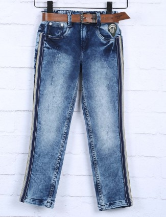 Badboys washed blue color boys jeans