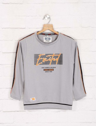 Bambini casual printed grey sweatshirt