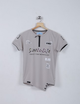 Bambini grey boys cotton t-shirt