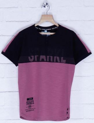 Bambini purple hued printed t-shirt