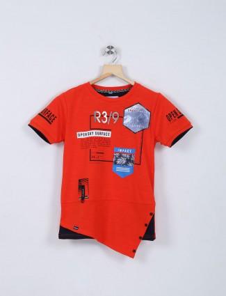 Bambini red hue t-shirt