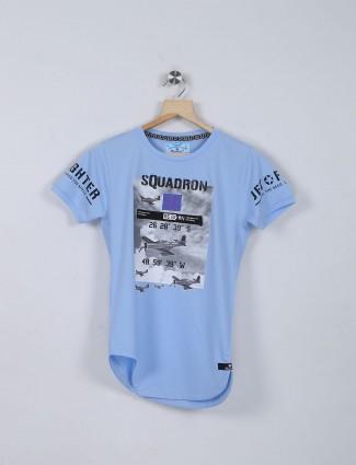 Bambini sky blue casual t-shirt
