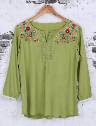 Beautiful green cotton top