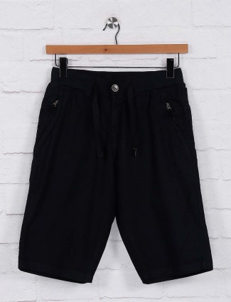 Beevee black hue solid shorts