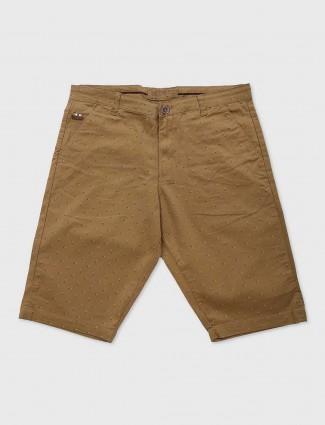 Beevee brown printed pattern shorts