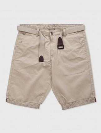 Beevee cream cotton shorts