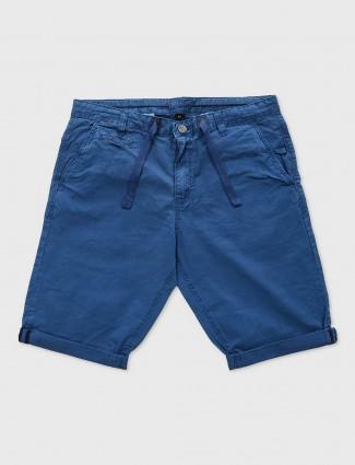 Beevee royal blue cotton shorts
