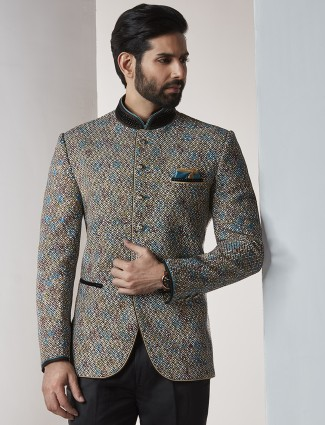 Beige color jodhpuri suit for party function