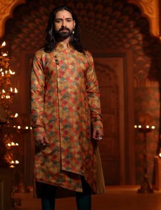Beige color kurta suit for wedding function