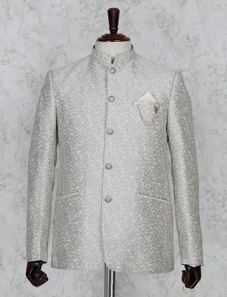 Beige color terry rayon thread weaving jodhpuri