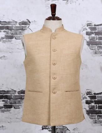 Beige color waistcoat