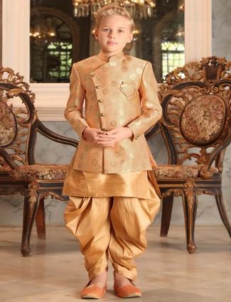 Beige hue designer wedding wear indo western