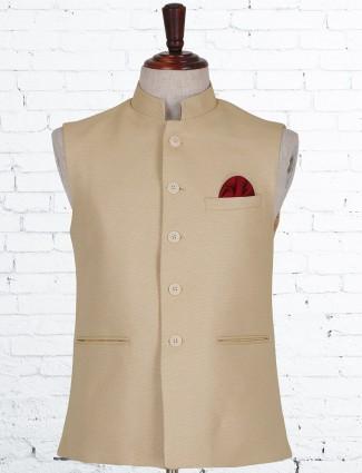 Beige terry rayon wedding waistcoat