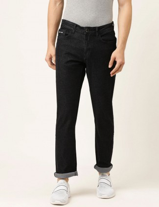 Being Human black solid slim fit jeans