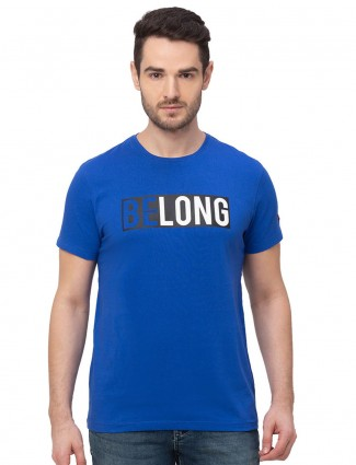 Being human blue printed cotton t-shirt
