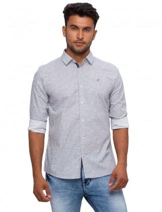 Being Human grey slim fit printed shirt
