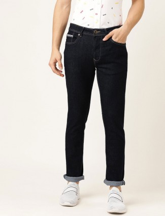 Being Human solid regular wear black jeans